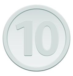 Ten coin vector image