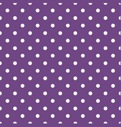 tile pattern with white polka dots on dark violet vector image