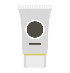 Tube cream icon flat style vector image vector image