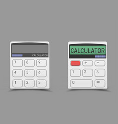 White calculator icon vector