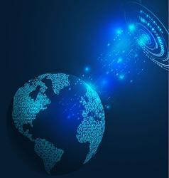 World futuristic communication and technology vector image