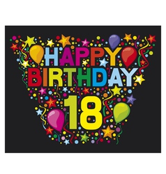 18th Birthday Card vector image