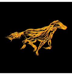 Fiery horse vector image