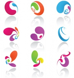 design elements colored vector image