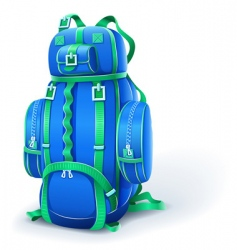 blue big backpack for travel vector image