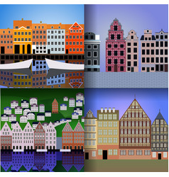 Set of european cities vector