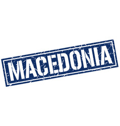 Macedonia blue square stamp vector