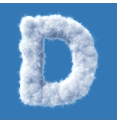 Cloud letter vector image