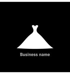 Wedding dress4 vector image