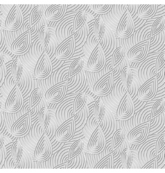 Seamless background of doodle drawn lines vector