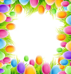 Colorful eggs design vector