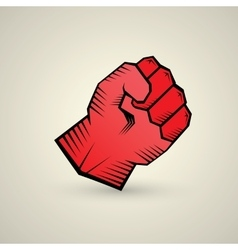 Freedom concept fist icon vector
