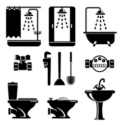 Bathroom equipment vector
