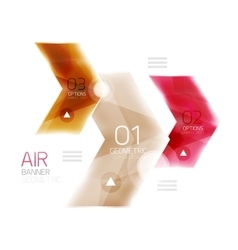 Air light glossy design of arrows web info box or vector