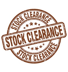 Stock clearance brown grunge round vintage rubber vector