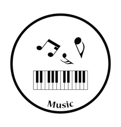 Icon of piano keyboard vector