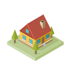 a of a large new isometric home isometric home vector image vector image