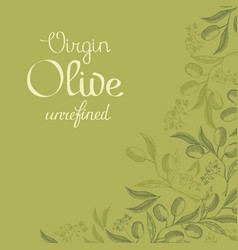 abstract natural green vintage background vector image vector image