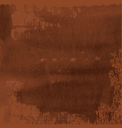 abstract texture of dark brown rusted metal vector image