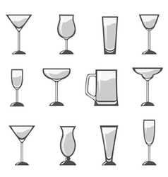 alcohol glass vector image vector image