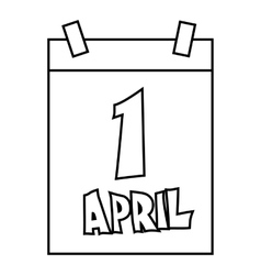 April 1 april fools day calendar icon vector