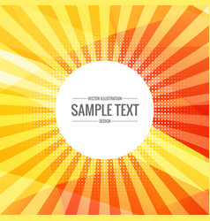 bright yellow abstract background with rays vector image vector image