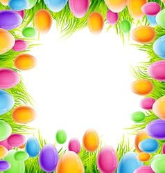 colorful eggs design vector image