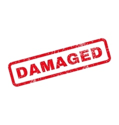Damaged Text Rubber Stamp vector image
