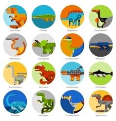 Dinosaur Icons Set vector image vector image