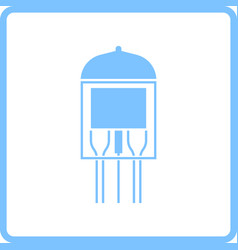 Electronic vacuum tube icon vector