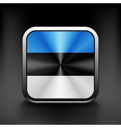 Estonia icon flag national travel icon country vector image vector image
