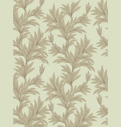 Floral leaves seamless background nature vector