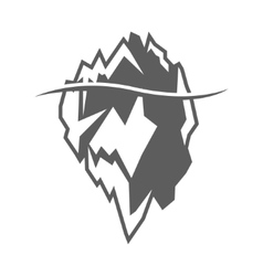 Grey iceberg icon on white background vector