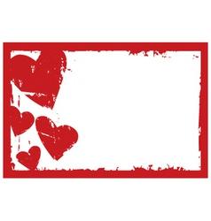 grunge heart frame vector image vector image