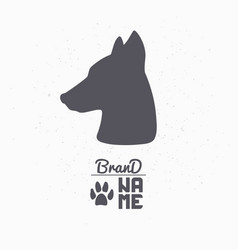 Hand drawn silhouette of dog head vector