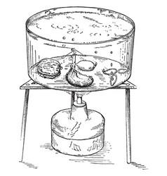Hot water vintage vector