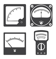 Icons of electrical measuring instruments vector