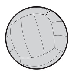 Isolated volleyball ball vector