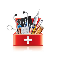 Medical equipment box isolated vector