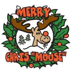 Merry christmas moose vector image