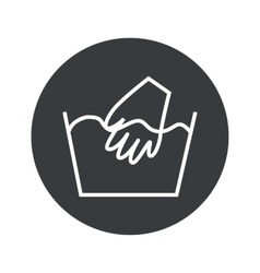 Monochrome round hand wash icon vector