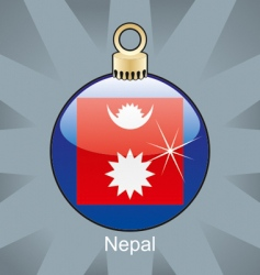 Nepal flag on bulb vector image