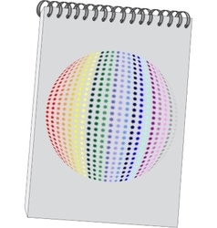 Notes with 3d ball in color 08 vector image