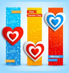 Romantic vertical banners vector