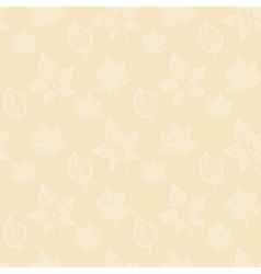 Seamless Autumn pattern on a beige background vector image vector image