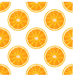 Seamless pattern of orange slice citrus background vector