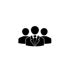 Team leader solid icon people business vector