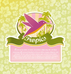 tropical travel emblem vector image vector image