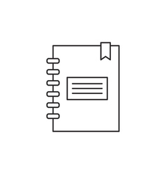 Outline notebook icon vector