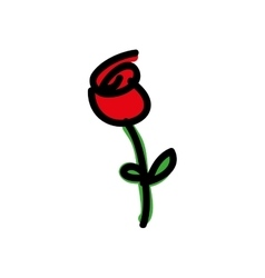 Cartoon rose icon image vector